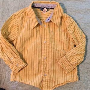 babyGap yellow button up shirt 2T